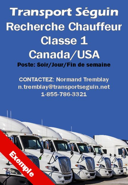 Offre emploi camionnage